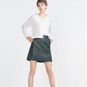 Zara Faux Leather Mini Skirt 🐢 NWT